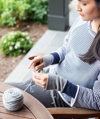 Reversible Arm Warmers Using Shibui Pebble