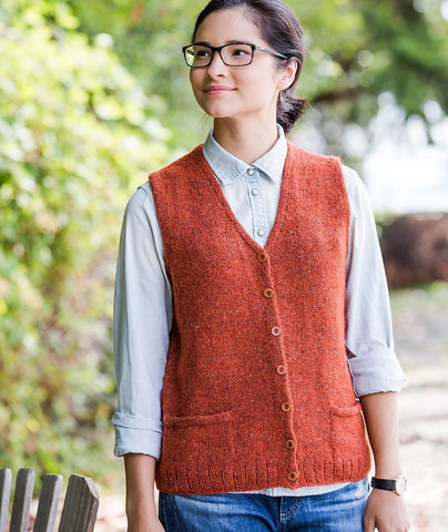 Library Vest Using Rowan Felted Tweed