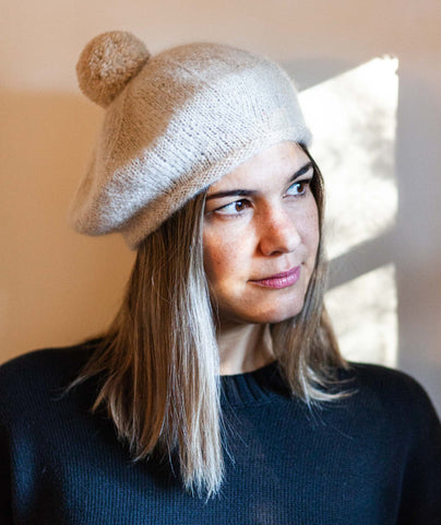 Cashmere Beret: DK Version Using Rowan Patina
