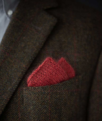 Pretty Perfect Pocket Square Using Shibui Silk Cloud