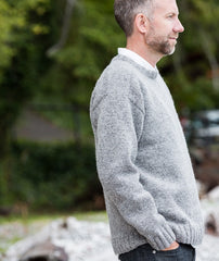Saddle-Shoulder Men's Pullover Pattern