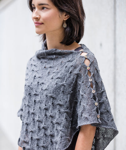 Spin-Stitch Poncho Using Isager Alpaca 2