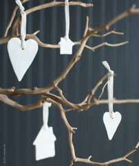 Porcelain Ornaments by Sallie Nau