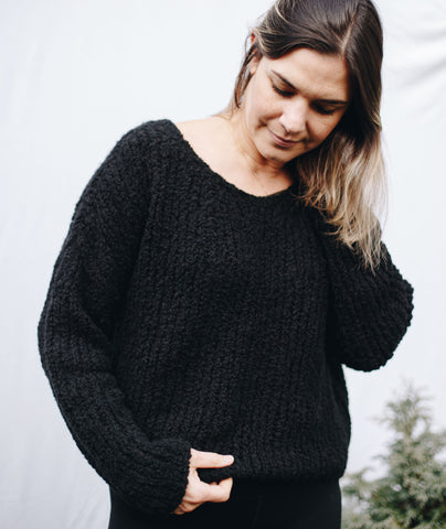 Slouchy Pullover Using Woolfolk Flette Bulky