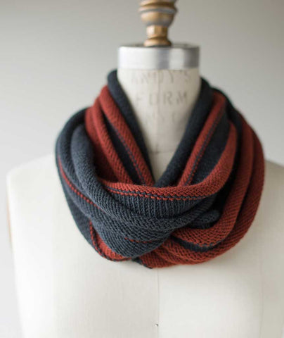 Welted Infinity Loop Using Woolfolk Tov DK