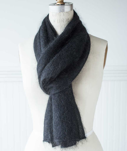 Alexandra's Airplane Scarf Using Shibui Silk Cloud