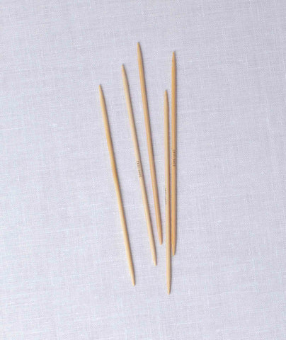 Addi Natura Bamboo Double Point Needles - 6""