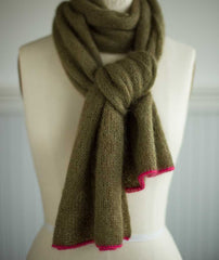 Alexandra's Airplane Scarf Using Isager Silk Mohair & ITO Sensai