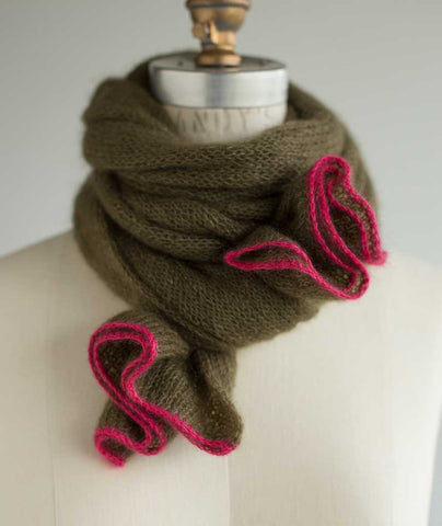 Alexandra S Airplane Scarf Using Isager Silk Mohair Amp Ito