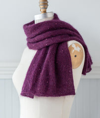 Alexandra's Short Hop Airplane Scarf Using Sesia Bluebell