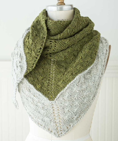 Amberle Shawl Using Brooklyn Tweed Shelter