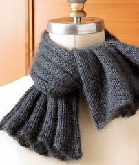 Annabella's Cowl Using Blue Sky Fibers Alpaca Silk & Rowan Kidsilk Haze