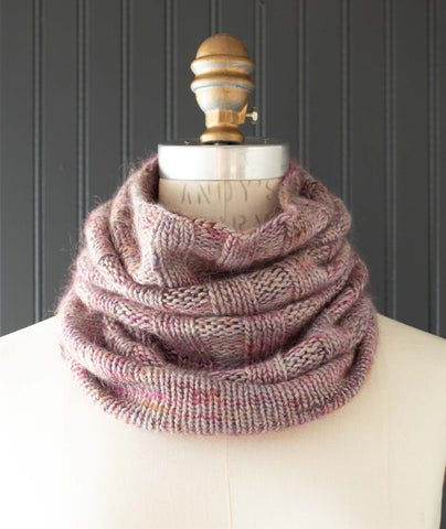 Annabella's Cowl Using Manos Silk Blend & Cabrito