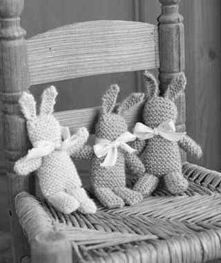 Baby Bunny and Bunting Using Erika Knight British Blue Wool