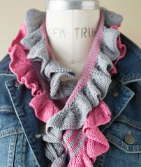 Two-Color Ruffle Scarf- Summerlite 4-ply Version