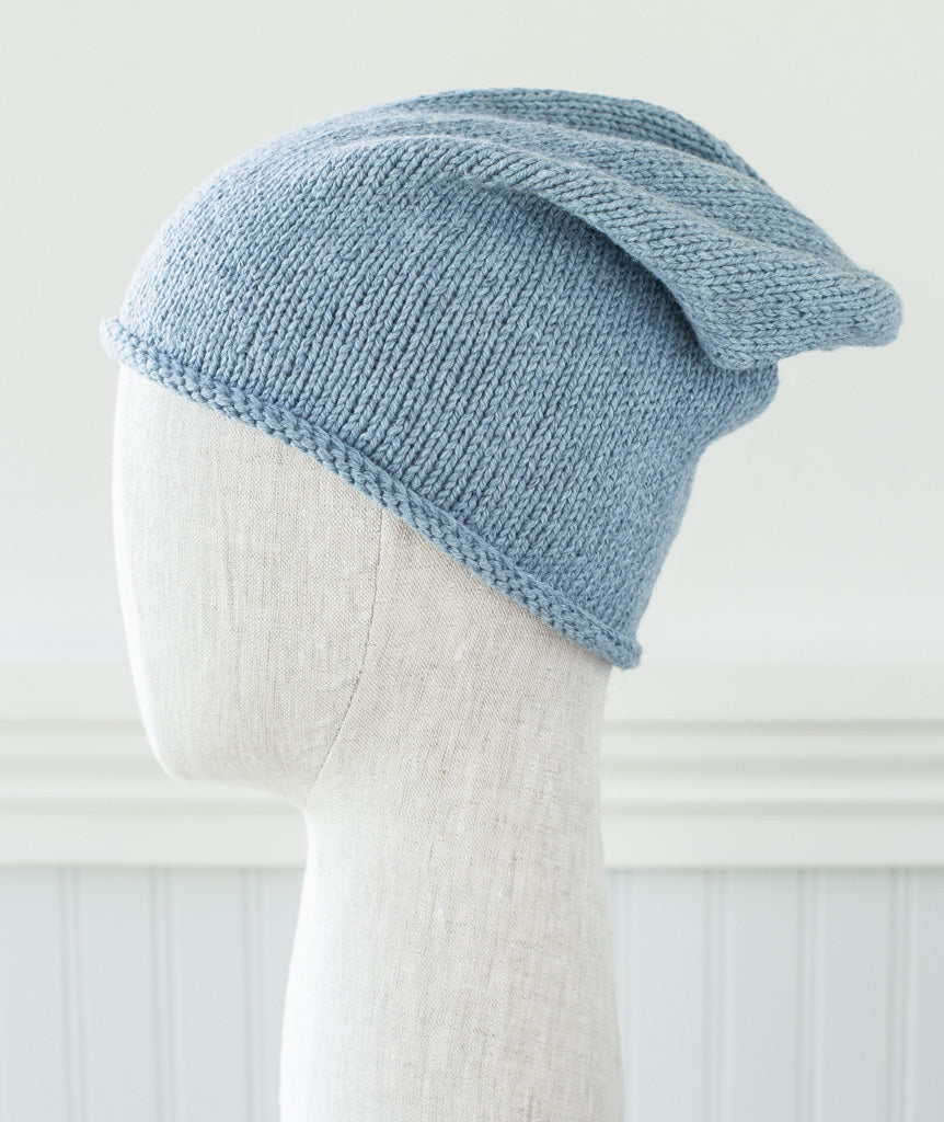 Basic Slouch Beanie Using Rowan Cotton Cashmere – Churchmouse Yarns ...