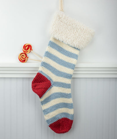 Basic Christmas Stocking Using Rowan Big Wool