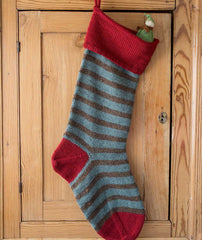 Basic Christmas Stocking - Lamb's Pride Striped Version