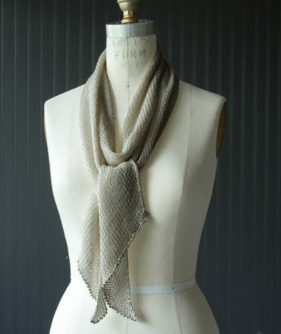Linen Bias Scarf Using Louet Euroflax Sport