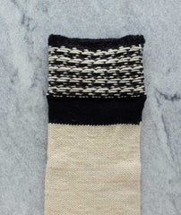 Basic Christmas Houndstooth Stocking Using Brown Sheep Lamb's Pride Worsted