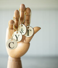 Enameled Tags - Letters