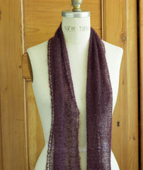Beaded Mohair Scarf Using Shibui Silk Cloud