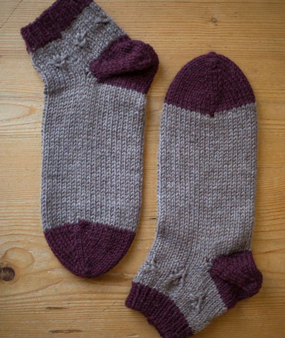Hartland Slipper Socks Using Berroco Ultra Wool