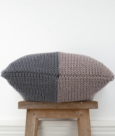 Pair of Big Pillows Using Rowan Big Wool