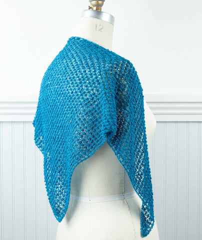 Blackberry Kerchief and Scarf Using Shibui Reed – Churchmouse Yarns