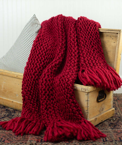 Crazy Cozy Throw Using Wool and the Gang Crazy Sexy Wool