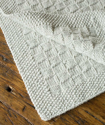 Block Stitch Baby Blanket or Throw