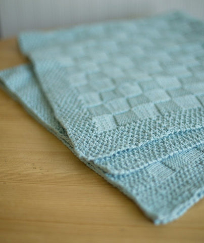 Block Stitch Baby Blanket Using Berroco Pima 100 Churchmouse Yarns