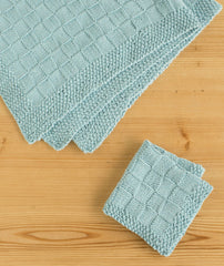 Block Stitch Baby Blanket Using Berroco Pima 100