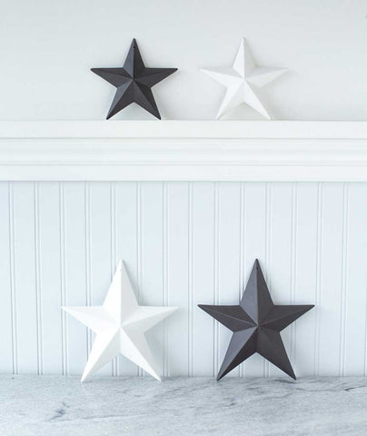 Black and White Star Ornaments