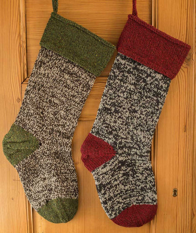 Basic Christmas Stocking Using Brooklyn Tweed Loft