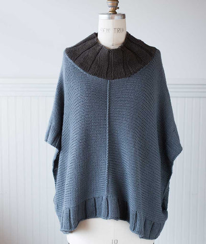 Two Harbors Poncho Using Blue Sky Fibers Extra