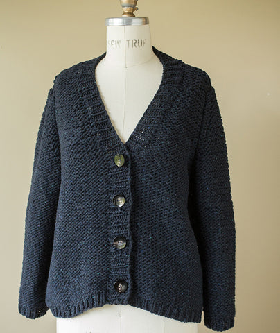 Riverbend Cardigan Using Brooklyn Tweed Quarry