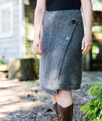 Buttoned Wrap Skirt - Brown Sheep Lamb's Pride Version