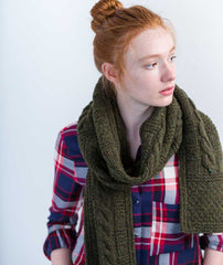 Byway Scarf Using Brooklyn Tweed Quarry