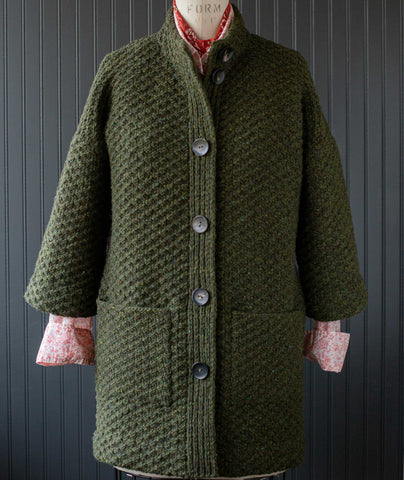 Car Coat Using Brooklyn Tweed Quarry