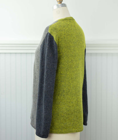 Go-To Cardigan: Colorblocked Using Rowan Felted Tweed