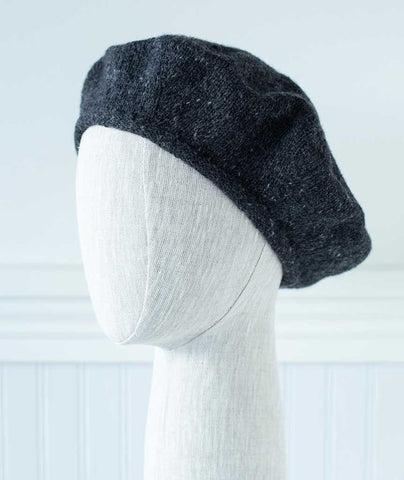 Cashmere Beret Using Rowan Cashmere Tweed