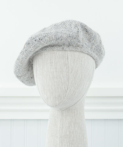 Cashmere Beret Using Tahki Donegal Tweed Fine & Shibui Silk Cloud