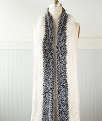 Color-Blocked Faux Fur Scarf Using Sirdar Alpine