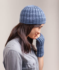Ribbed Beanie & Handwarmers Using Manos Maxima