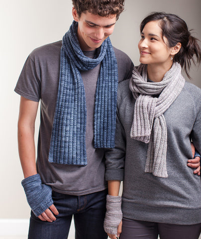 Stitch-Sampler Handwarmers & Ribbed Scarf - Maxima Version