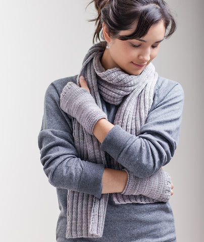 Classroom: Stitch-Sampler Handwarmers & Ribbed Scarf Pattern
