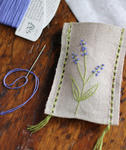 Churchmouse Embroidered Sachet Kits