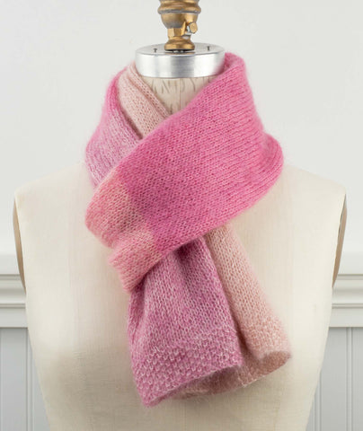 Color Play Mohair Scarf Using Rowan Kidsilk Haze