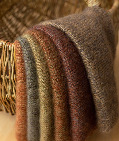 Color Play Mohair Wrap Using Isager Silk Mohair